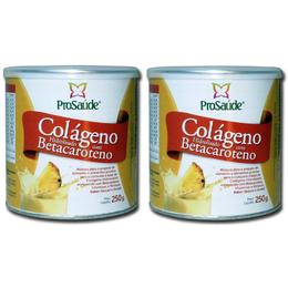 2 Unidades de Colágeno Hidrolisado com Betacaroteno 250g