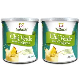 2 Unidades de Chá Verde com Colágeno sabor Abacaxi com Hortelã 200g