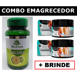 2 Garcínea Cambogia em Cápsulas + 2 Géis Lipo Redutor + Brinde