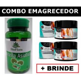 2 Centella Asiática em Cápsulas + 2 Géis Lipo Redutor + Brinde