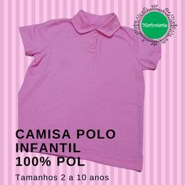 Camisa Polo Infantil 100% Pol