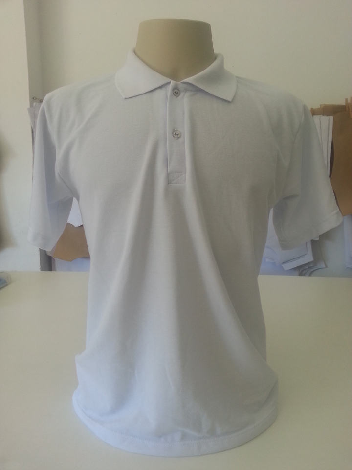 4a6237eec Camisa Pólo para sublimação Branca - Maricotarte
