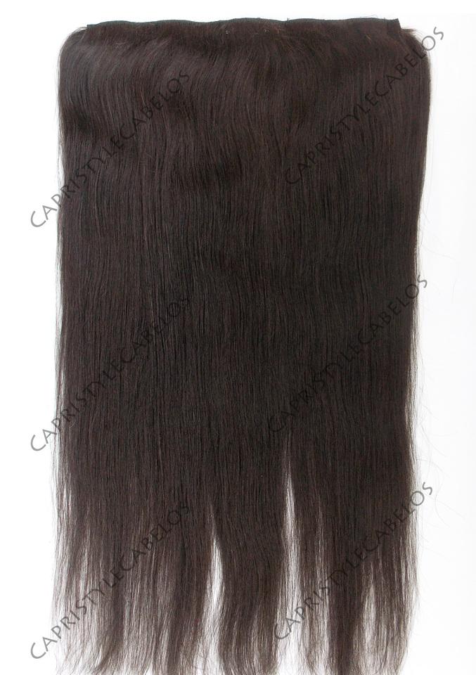 Aplique tic tac de cabelo natural liso - CapriStyleCabelos