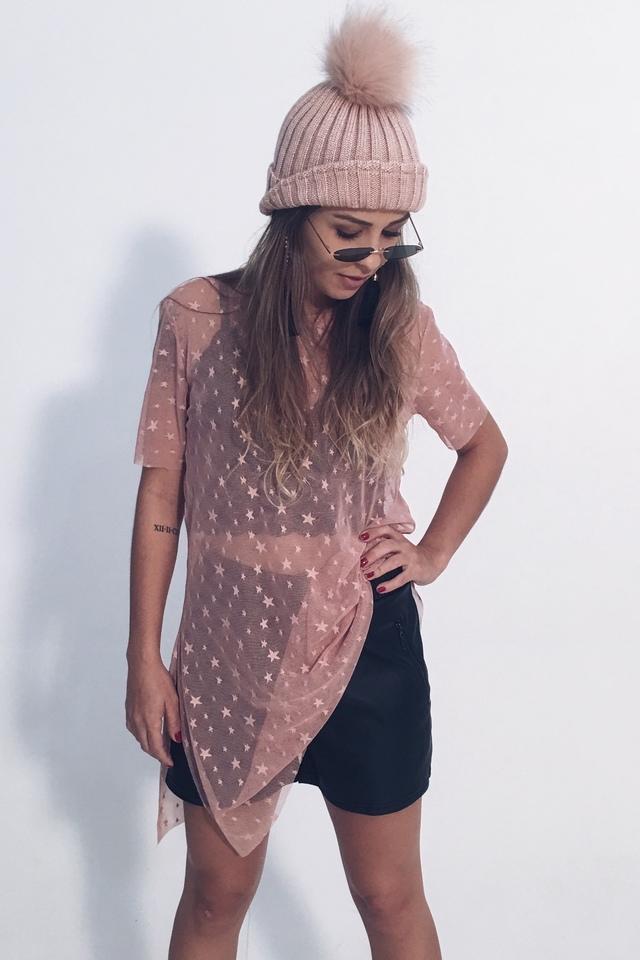 T-shirt Tule Stars Rosê