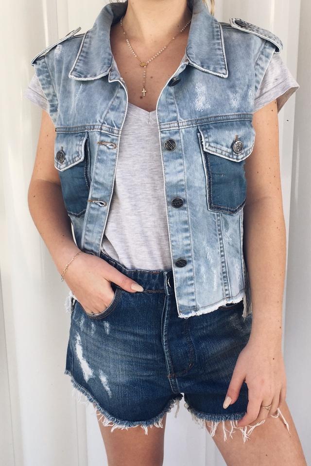 Colete Jeans Seattle com Reservas