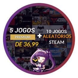 10 Jogos Steam + 5 Premium