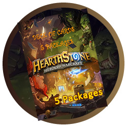 Hearthstone Heroes of Warcraft - 5 pacotes