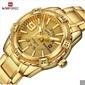 Men Fashion Waterproof Quartz Military Stainless Steel Sports Watches - Gold - Frete Grátis