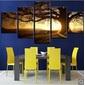 Tela Impressa Twilight and Bare Tree Pattern Wall Art Canvas - Frete Grátis