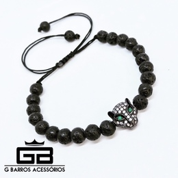 Pulseira Black Leopard G Barros For Man