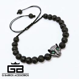 Pulseira Black Leopard G Barros For Man