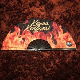 Leque Keyma Kengaral  (não possui frete grátis para este produto, hastes em plástico)
