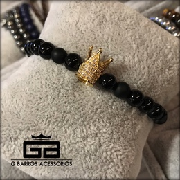 Pulseira Gold Crown G Barros