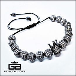 Pulseira Black Crown exclusiva