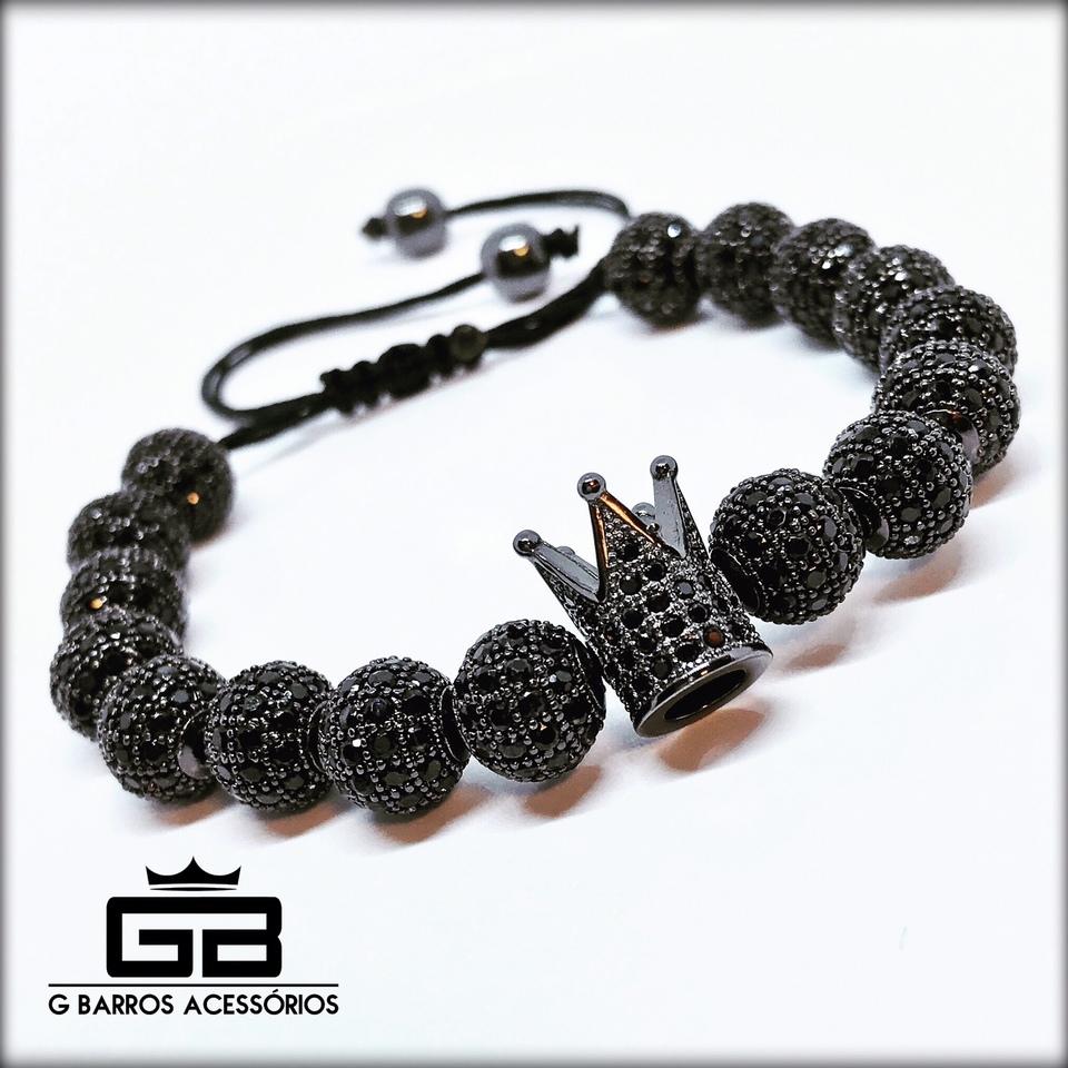 Pulseira Black Crown Collection G Barros For Man