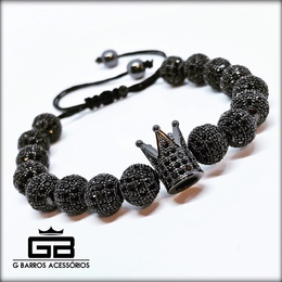 Pulseira Black Crown Collection G Barros For Man