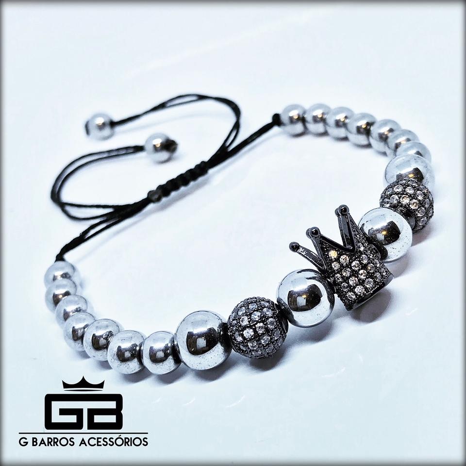 Pulseira Silver Crown G Barros