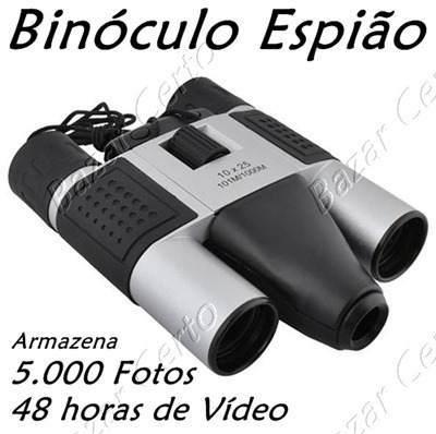 Binóculo Espião - Câmera Digital 5.000 Fotos - Vídeo 48 horas