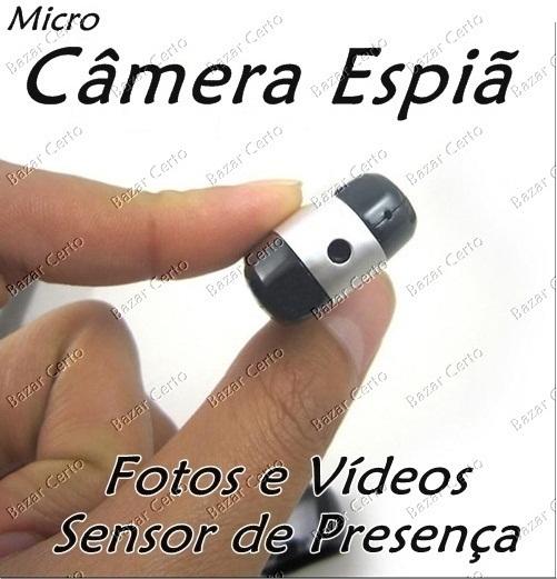 Micro Câmera com Sensor de Presença - Fotografe e Filme