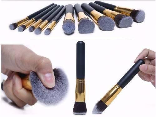 6499b7d6d54c6 Kit Maquiagem Profissional 10 Pinceis Cerdas Sinteticas - Gamma Loja