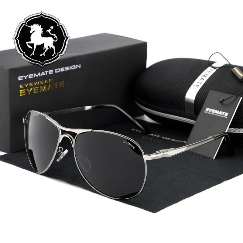 a070c3de2ce39 Óculos de Sol Masculino Estilo Aviador HDCRAFTER Lentes Polarizadas