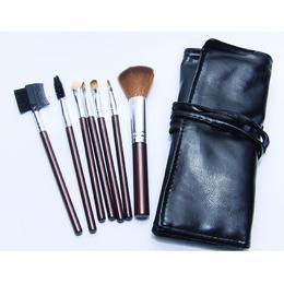 81f406ffa5d2f Pinceis de Maquiagem Profissional com Estojo Kit c 07 Pinceis