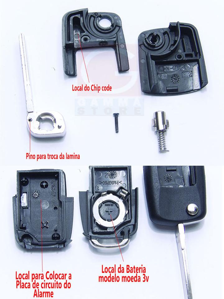 c9cf11cc386 Chave Canivete VW Original com 2 Botões p  Gol Golf Saveiro ...