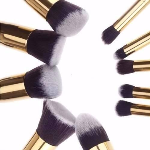 a4f3bd971258c Kit Maquiagem Profissional 10 Pinceis Cerdas Sinteticas Kit Maquiagem  Profissional 10 Pinceis Cerdas Sinteticas ...