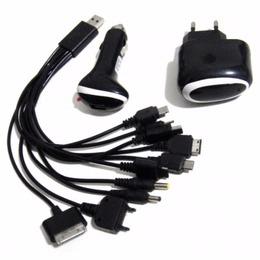 Carregador Universal Celular Usb 10 em 1 para Veiculo e Tomada Parede