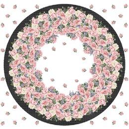 Neoprene estampa circular para saia godê diâmetro 1,50