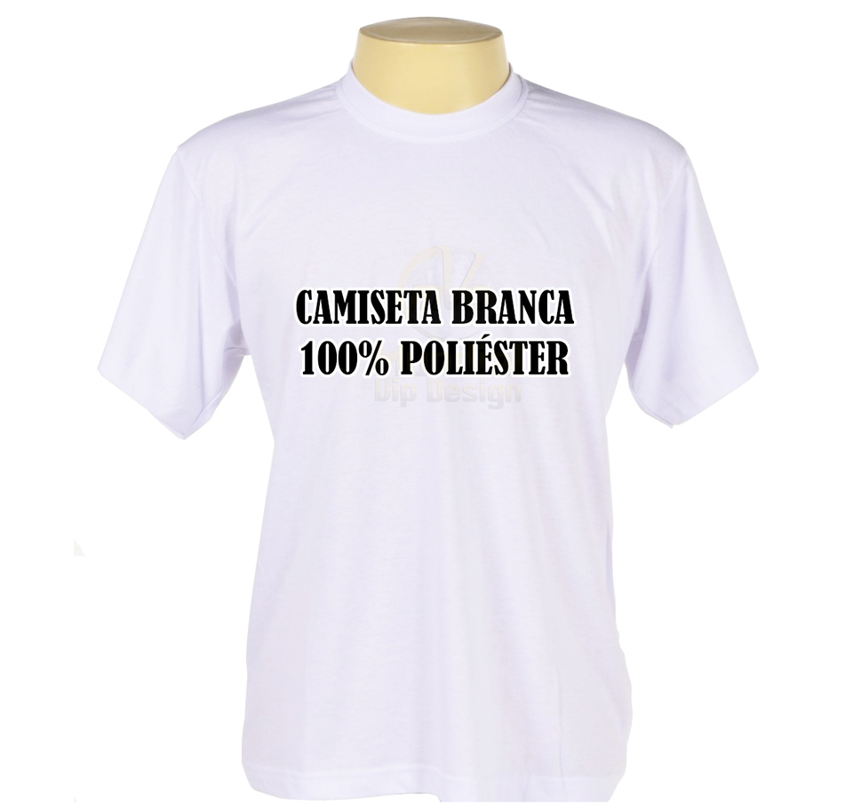c8d1e0465c Camiseta Poliéster Branca Pacote Com 10 unidades - Mundial Vip Design
