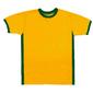 Lote com 20 Baby Look Femininas - Amarelo com detalhes Verde