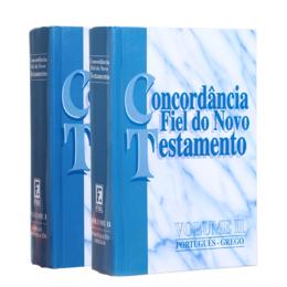 LIVRO CONCORDÂNCIA FIEL DO NOVO TESTAMENTO VOLUMES 1 E 2 **RARIDADE