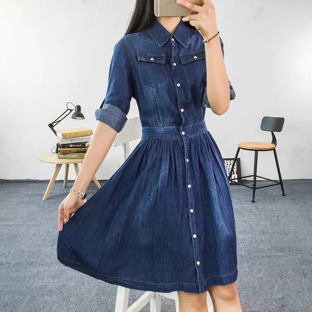 Fotos de vestidos jeans manga longa