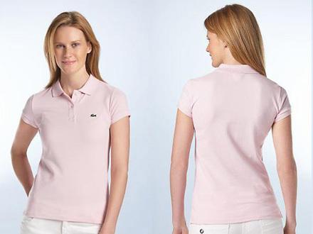 new products ef2fa b4090 Polo Lacoste feminina rosa