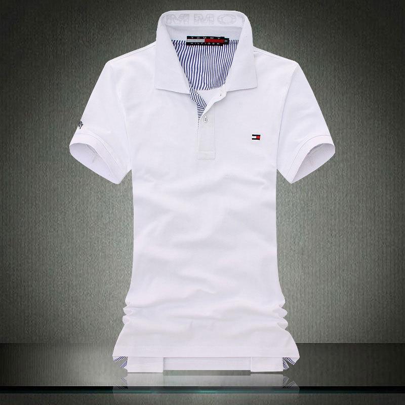 Camisa polo TOMMY HILFIGER masculina branca - Blue store 5bf4b620b7e54
