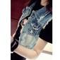 Colete feminino jeans importado