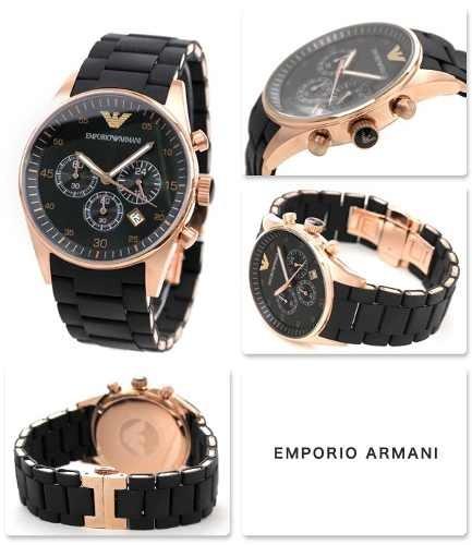 5b209645584 Relógio Emporio Armani Ar5905 Preto Rose