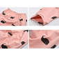 Calça infantil de algodão baleias