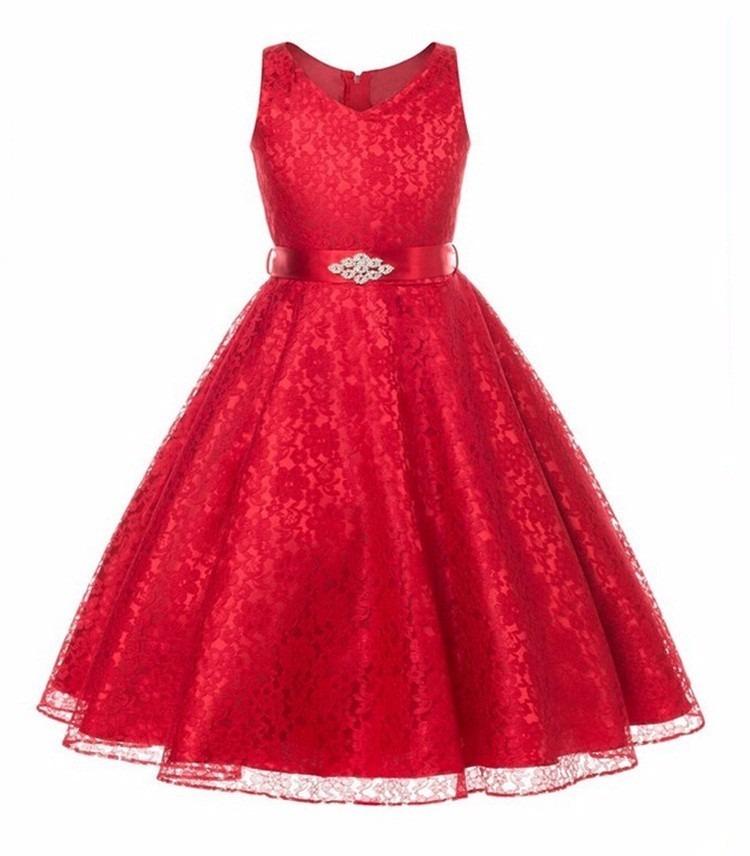 fa6a28fd0e Vestido Festa Infantil juvenil Renda Casamento Daminha Dama - Blue store