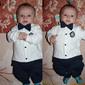 Macacão infantil masculino gravata borboleta