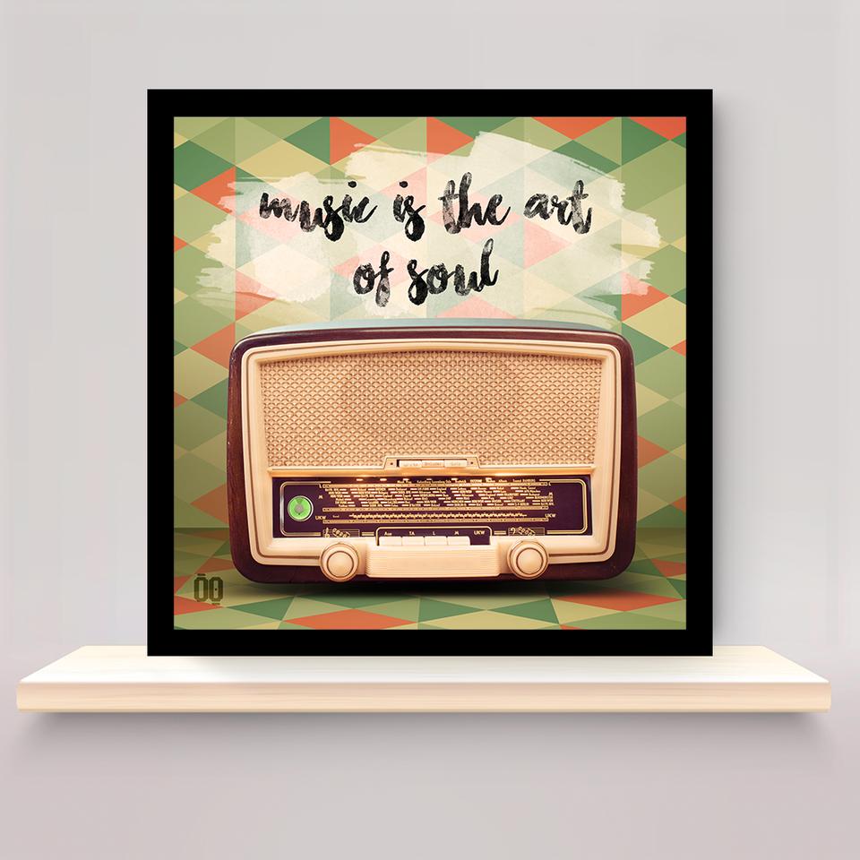 Quadro Retrô Rádio
