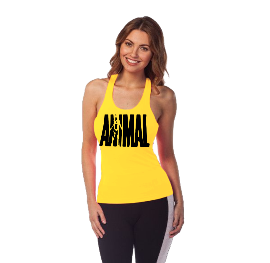 40fe929c85fed Camiseta Feminina Regata Nadador Animal