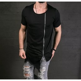 4d3e8d6d7685e Camiseta Oversized Longline Swag Com Ziper Total