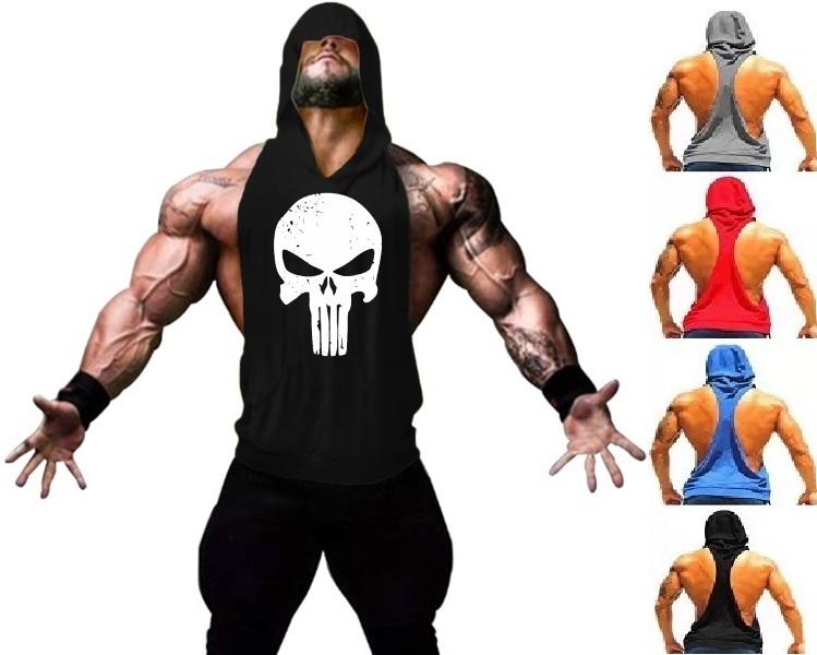 72857bb22 Camiseta Regata Cavada Com Capuz Justiceiro - Loja Mutante Fitness