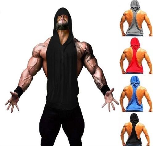 90b43dfd200a2 Kit 5 Camisas Regata Cavada Masculina Capuz e Bolso - Loja Mutante ...