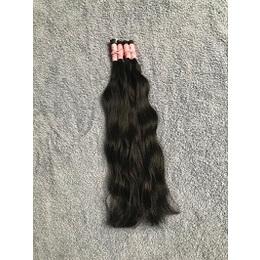 cabelo natural semi liso castanho escuro 45 cm 50 gramas