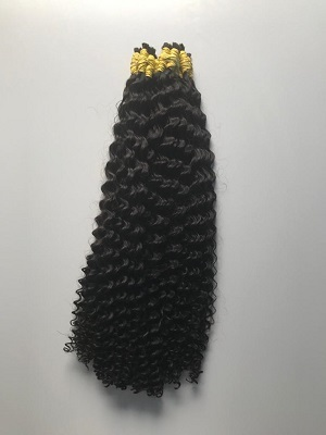 Cabelo Natural Cacheado Castanho Escuro 70 Cm 50 Gramas