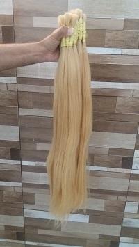 cabelo natural loiro claro liso 70 a 75 cm 50 gramas