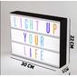 Letreiro de cinema luminoso - light box A5